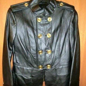 NEW $1,198 ELLEN TRACY BLACK LEATHER JACKET